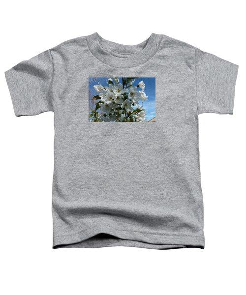 White Flowers - Variation 2 Toddler T-Shirt