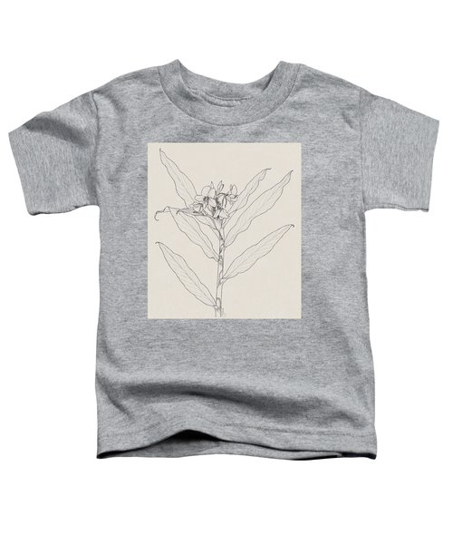 Toddler T-Shirt featuring the drawing White Ginger by Judith Kunzle