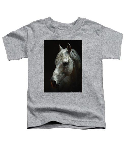 White Horse Portrait Toddler T-Shirt