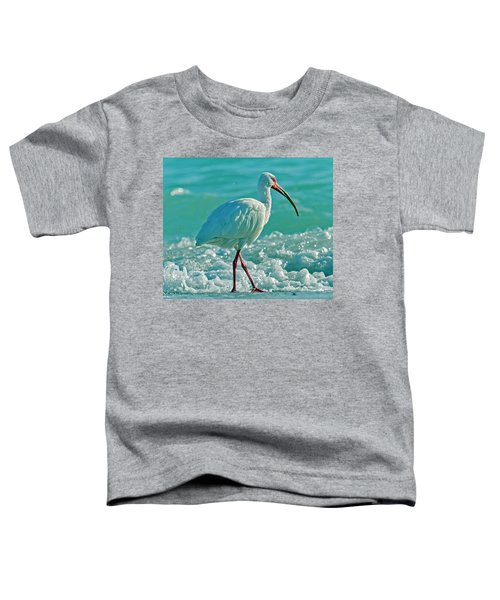 White Ibis Paradise Toddler T-Shirt