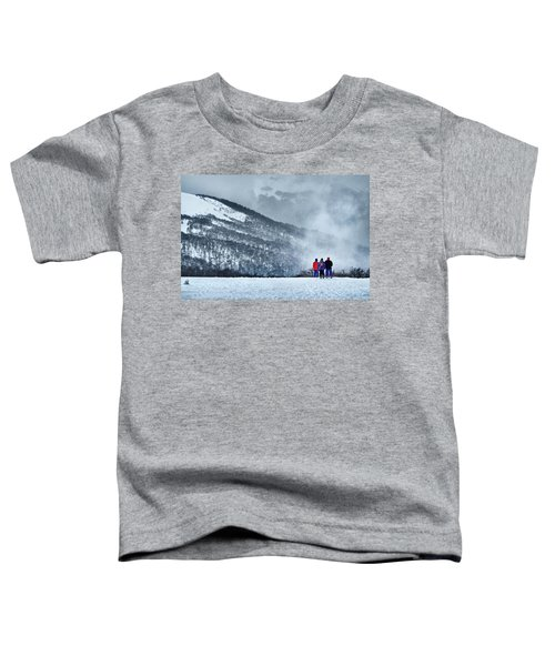 White Landscape In The Frozen Paradise In The Argentine Patagonia Toddler T-Shirt