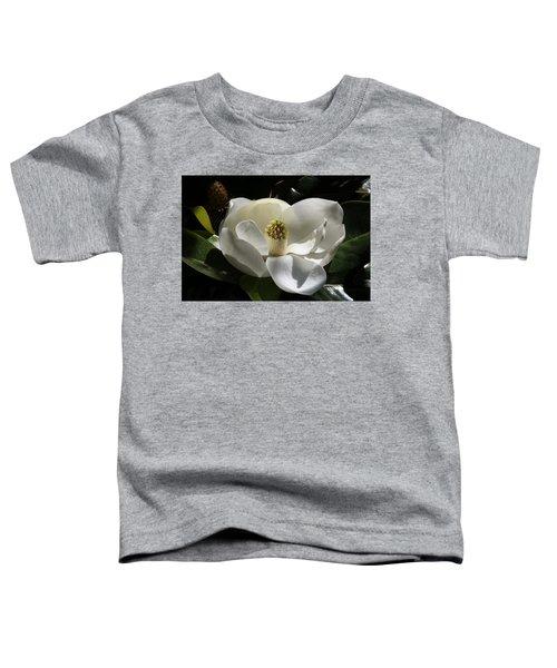 White Magnolia Flower Toddler T-Shirt