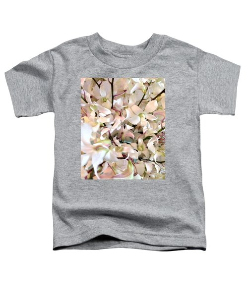 White Orchid Cluster Toddler T-Shirt