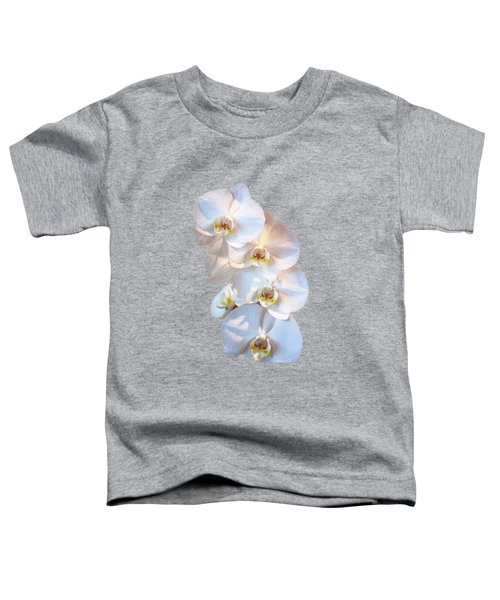 White Orchid Cutout Toddler T-Shirt by Linda Phelps