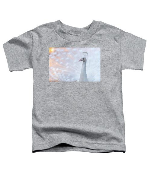 Toddler T-Shirt featuring the photograph White Peacock by Sebastian Musial