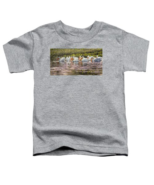 White Pelican Parade Toddler T-Shirt