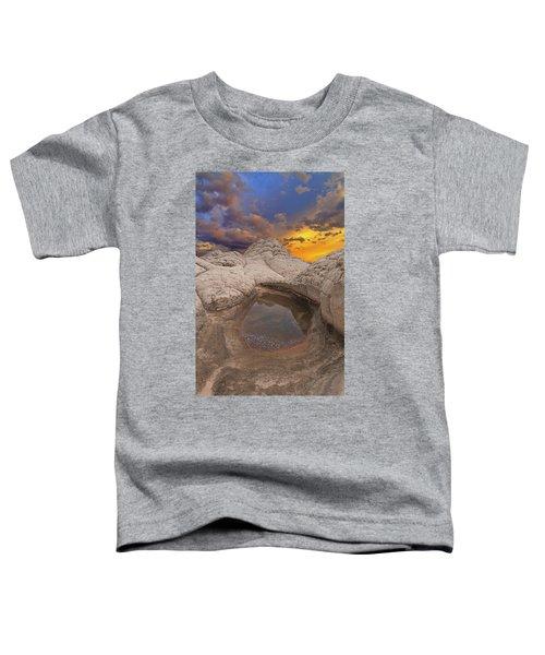 White Pocket Sunset Toddler T-Shirt