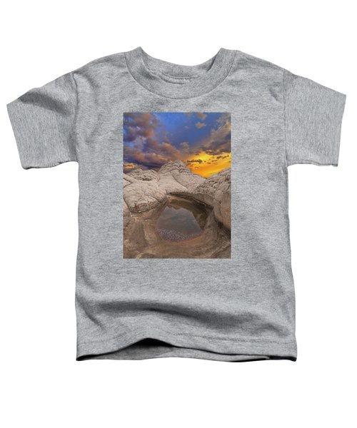 White Pocket Sunset Toddler T-Shirt