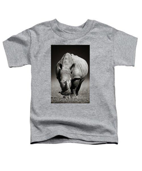 White Rhinoceros  In Due-tone Toddler T-Shirt
