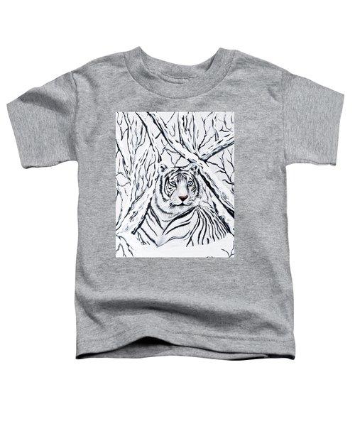 White Tiger Blending In Toddler T-Shirt
