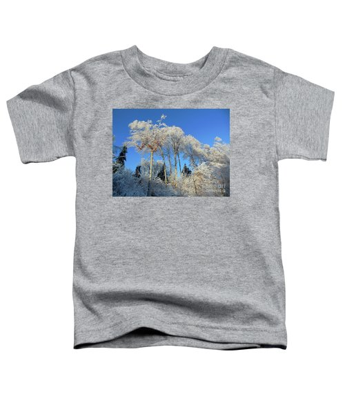 White Trees Clear Skies Toddler T-Shirt