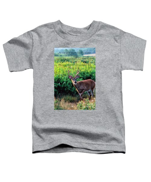 Whitetail Deer Panting Toddler T-Shirt