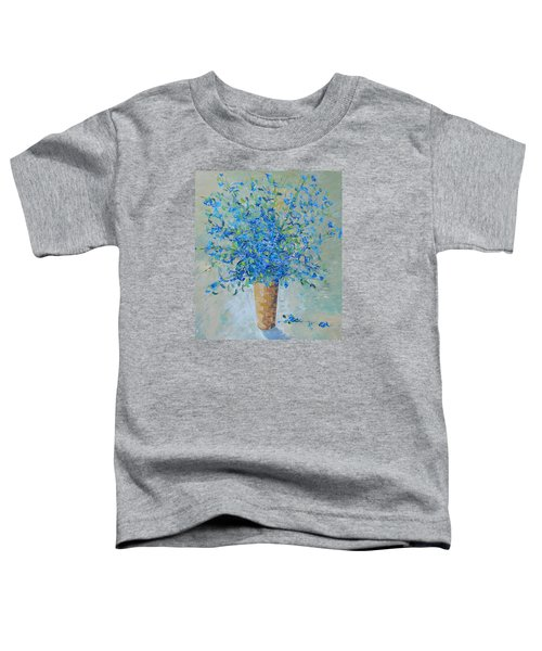 Wild Blue Floral Toddler T-Shirt