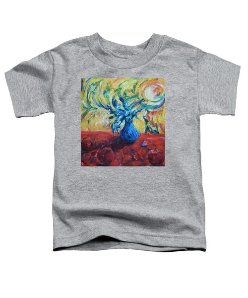 Toddler T-Shirt featuring the painting Wild Flower by Yulia Kazansky