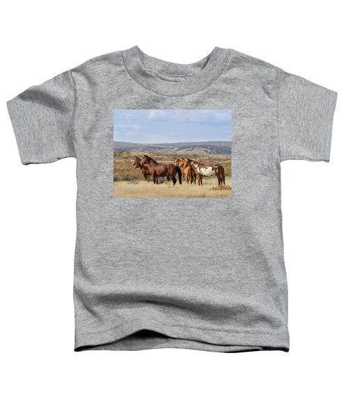 Wild Mustang Family Band In Sand Wash Basin Toddler T-Shirt
