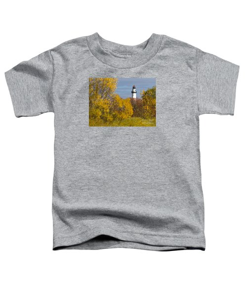 Wind Point Lighthouse In Fall Toddler T-Shirt