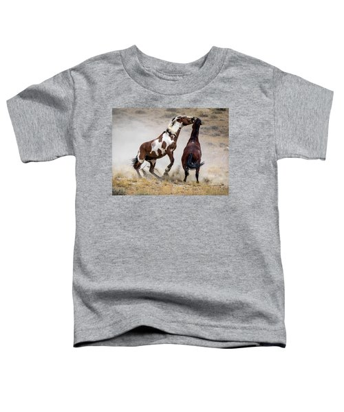 Wild Stallion Battle - Picasso And Dragon Toddler T-Shirt