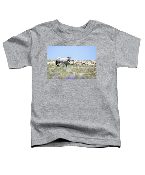 Wildflowers And Mustang Toddler T-Shirt