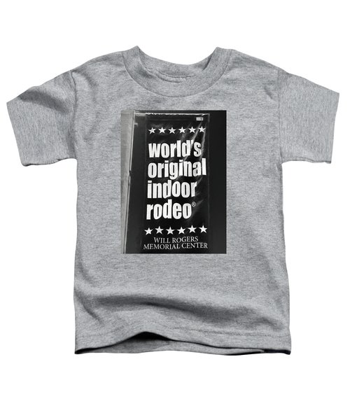 Will Rogers Rodeo Bw Toddler T-Shirt