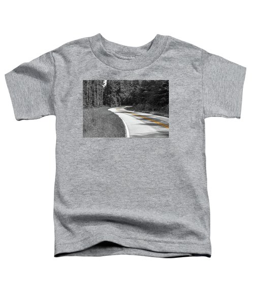 Winding Country Road In Selective Color Toddler T-Shirt