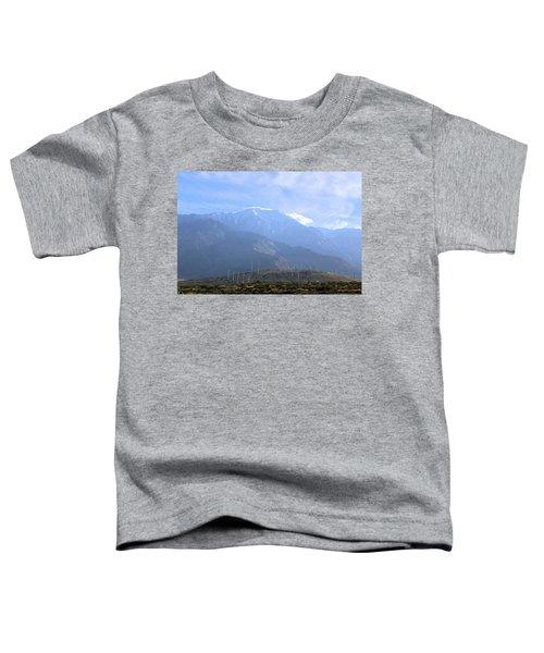 Windmills At San Jacinto Mt Toddler T-Shirt