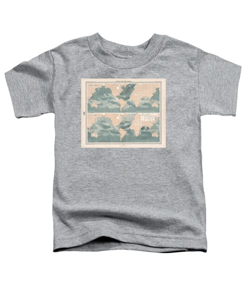 Winds Over The Oceans - Meteorological Map - Geological Map - Wind Direction And Speed Chart Toddler T-Shirt