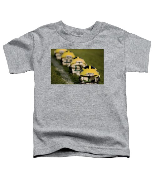 Winged Helmets On Yard Line Toddler T-Shirt
