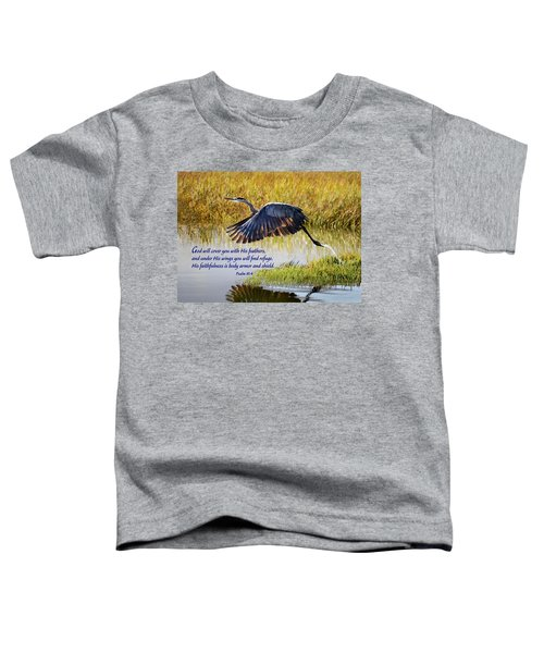 Wings Of Refuge With Scripture Toddler T-Shirt