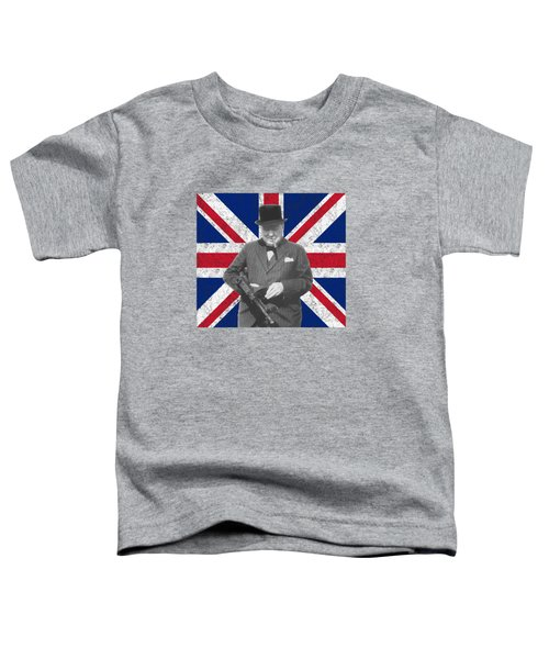 Winston Churchill And His Flag Toddler T-Shirt