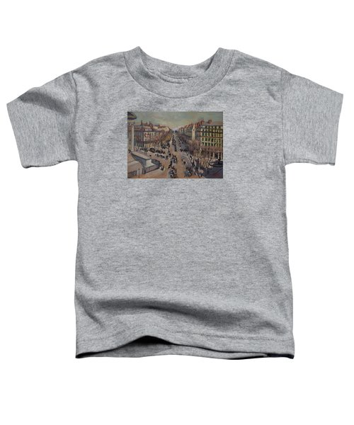 Winter At The Boulevard De La Madeleine, Paris Toddler T-Shirt by Nop Briex