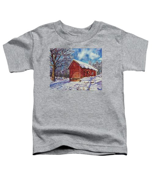 Winter At The Old Barn Toddler T-Shirt