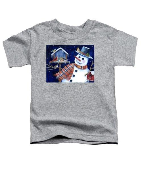 Winter Birds Delight Toddler T-Shirt