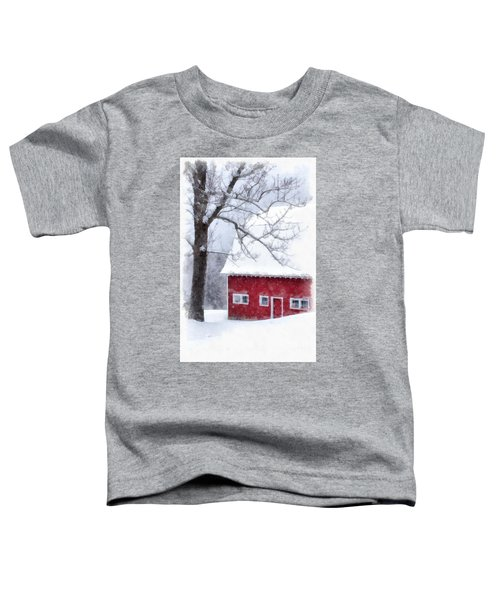 Winter Blanket Of Snow On The Farm Toddler T-Shirt