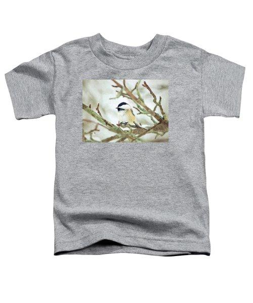 Winter Chickadee Toddler T-Shirt