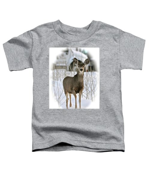 Winter Deer On The Tree Farm Toddler T-Shirt