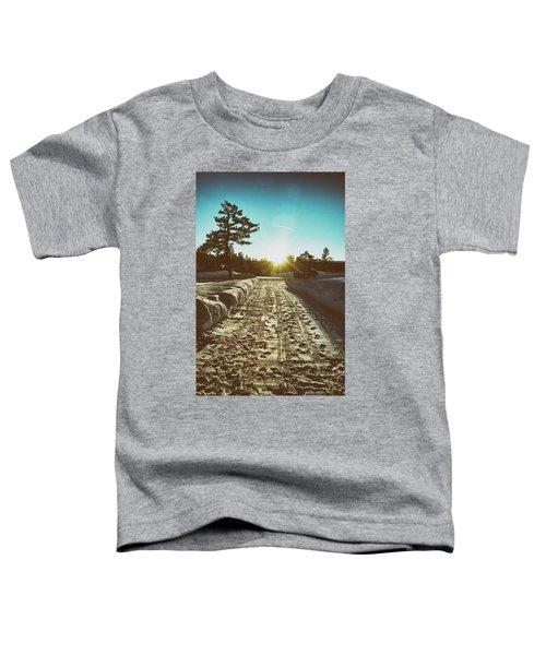 Winter Driveway Sunset Toddler T-Shirt