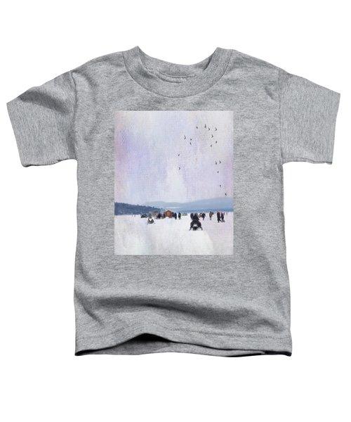 Winter Fun On The Lake Toddler T-Shirt