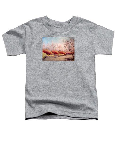 Winter Landscape Dry Creek Bed Toddler T-Shirt
