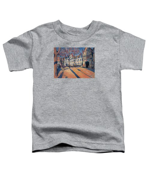 Winter Light At The Our Lady Square In Maastricht Toddler T-Shirt by Nop Briex