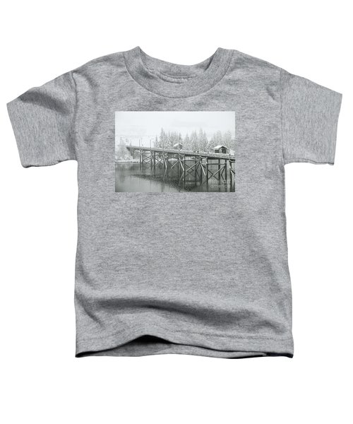 Winter Morning In The Pier Toddler T-Shirt