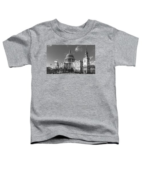 Winter Sun St Paul's Cathedral Bw Toddler T-Shirt