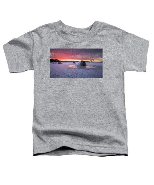 Winter Sunrise Over Moose Pond Toddler T-Shirt