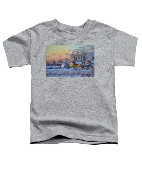 Winter Sunset In The Farm Toddler T-Shirt