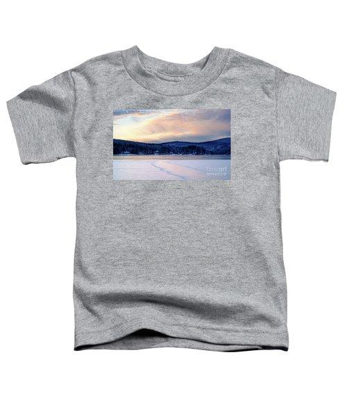 Winter Sunset On Wilson Lake In Wilton Me  -78091-78092 Toddler T-Shirt