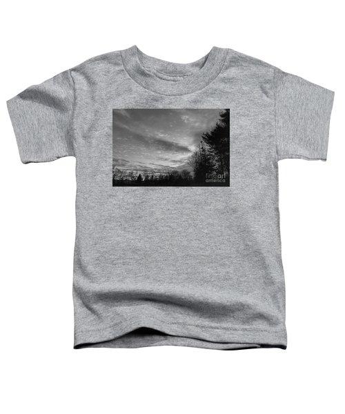 Winter Sunset On Woodland Lake Toddler T-Shirt