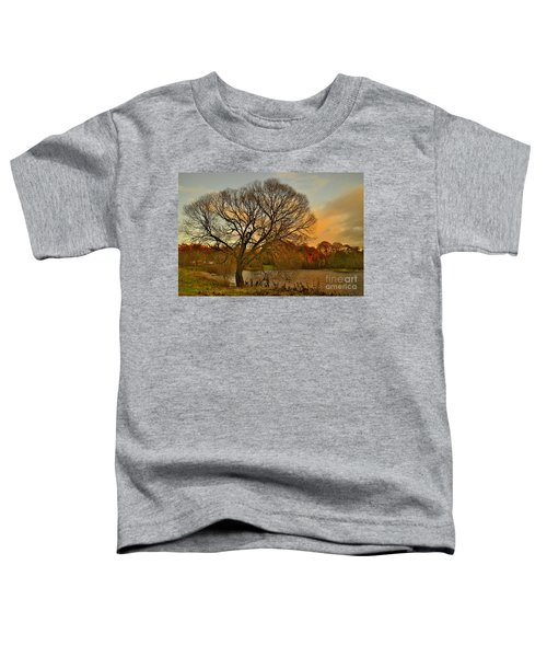 Winter Tree On The River Tweed Toddler T-Shirt