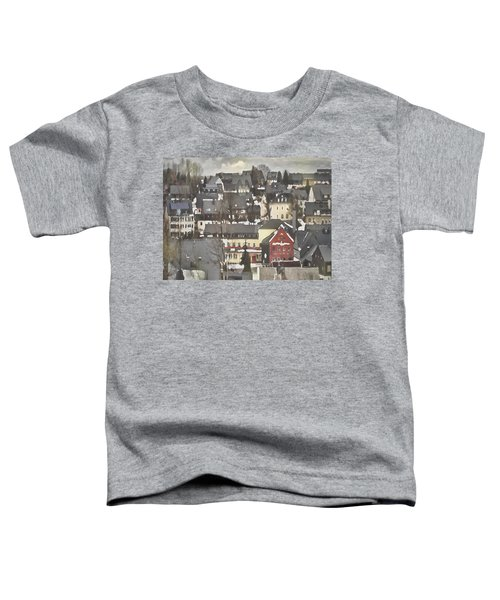 Winter Village With Red House Toddler T-Shirt