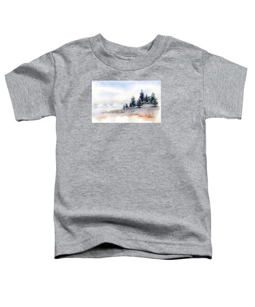 Winter Watercolor Painting Toddler T-Shirt
