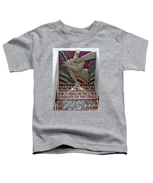 Wisdom Lords Over Rockefeller Center Toddler T-Shirt