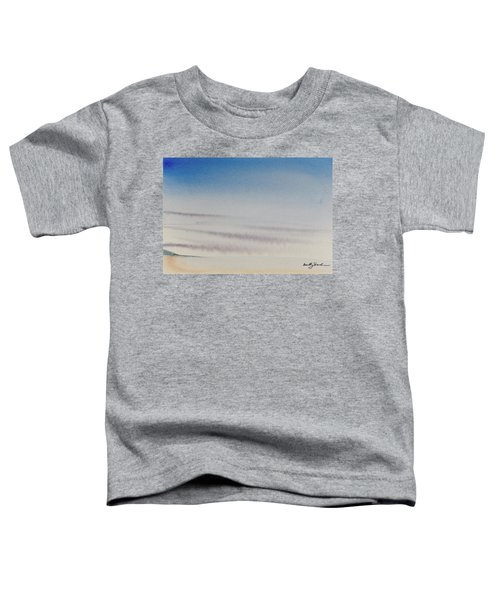 Wisps Of Clouds At Sunset Over A Calm Bay Toddler T-Shirt